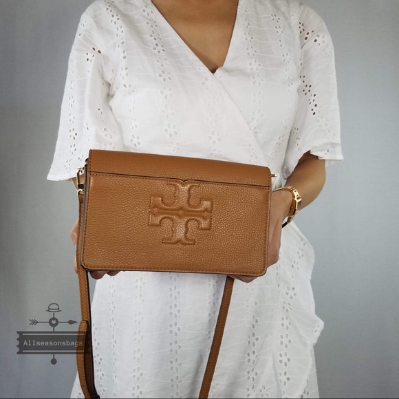 fa3ef2b15 Tory Burch Bags | T Small Bombe Crossbody Bark Brown Bag | Poshmark